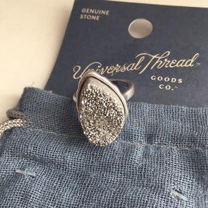 Genuine stone ring